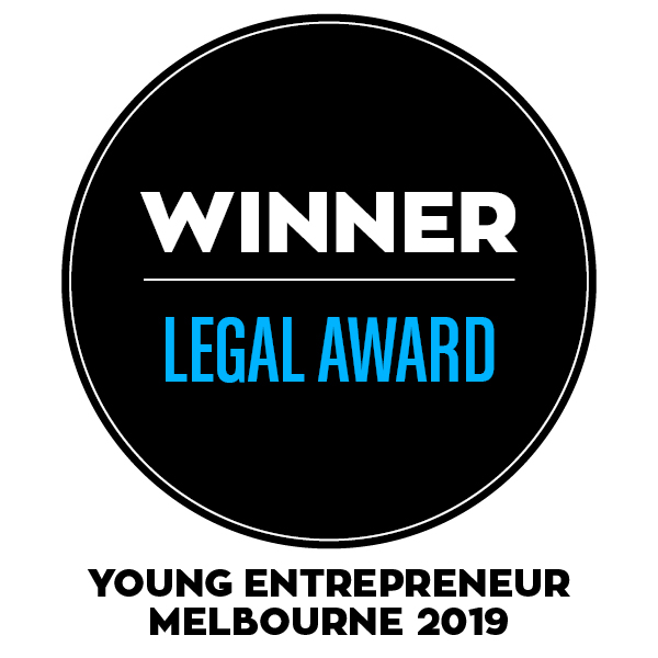 Winner Young Entrepreneur Awards Melbourne Legal